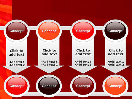 Red Tendency Abstract PowerPoint Template Slide 18