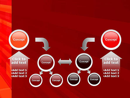 Red Tendency Abstract PowerPoint Template Slide 19