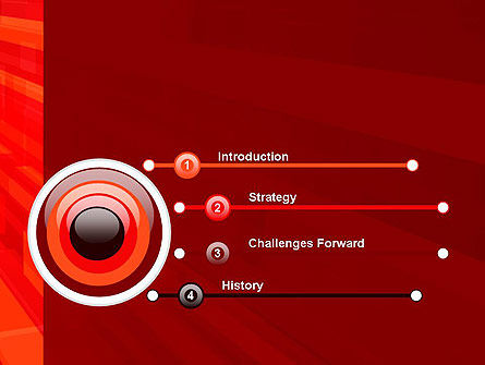 Red Tendency Abstract PowerPoint Template Slide 3