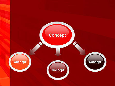 Red Tendency Abstract PowerPoint Template, Slide 4, 13927, Abstract/Textures — PoweredTemplate.com