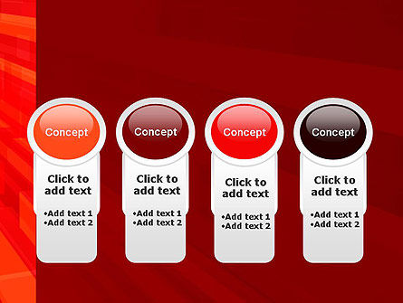 Red Tendency Abstract PowerPoint Template Slide 5
