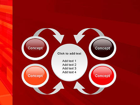 Red Tendency Abstract PowerPoint Template Slide 6