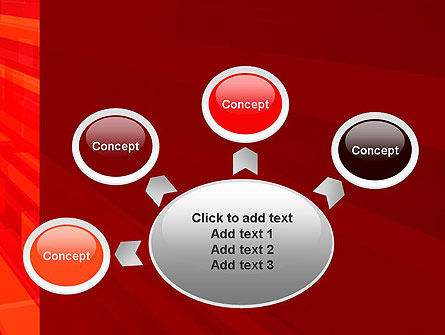 Red Tendency Abstract PowerPoint Template Slide 7