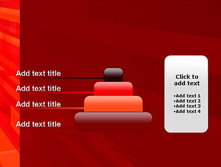 Red Tendency Abstract PowerPoint Template Slide 8