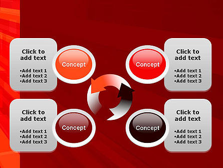 Red Tendency Abstract PowerPoint Template Slide 9