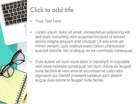 Office Desktop Workspace PowerPoint Template, Slide 3, 13928, Business — PoweredTemplate.com