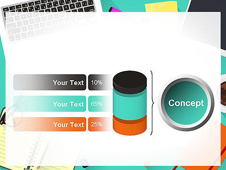Office Desktop Workspace PowerPoint Template Slide 11