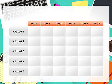 Office Desktop Workspace PowerPoint Template Slide 15