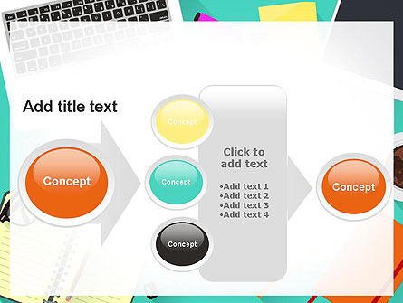 Office Desktop Workspace PowerPoint Template Slide 17