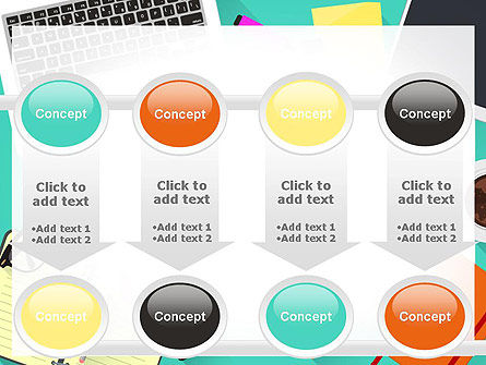 Office Desktop Workspace PowerPoint Template Slide 18