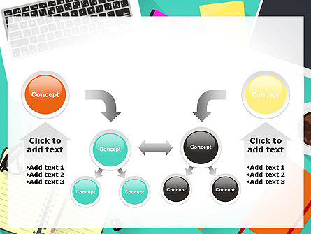 Office Desktop Workspace PowerPoint Template Slide 19