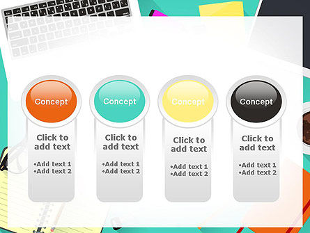 Office Desktop Workspace PowerPoint Template Slide 5