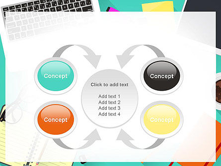 Office Desktop Workspace PowerPoint Template Slide 6