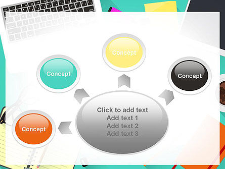 Office Desktop Workspace PowerPoint Template Slide 7