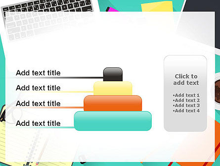 Office Desktop Workspace PowerPoint Template Slide 8