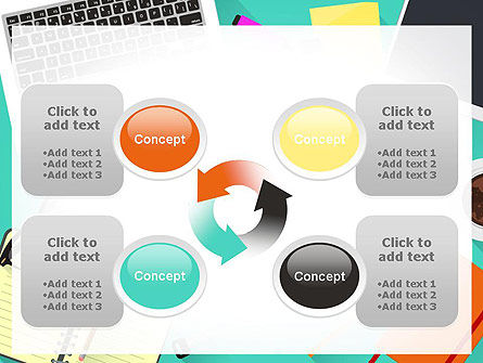 Office Desktop Workspace PowerPoint Template Slide 9