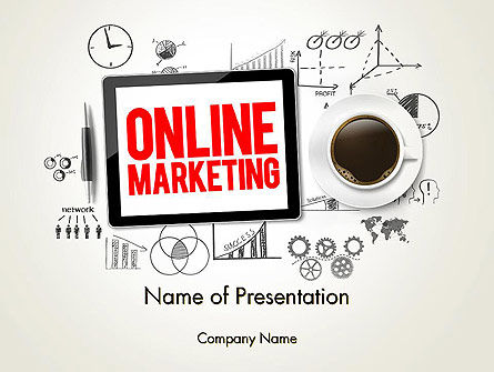 Online Marketing Strategy Concept PowerPoint Template, 13929, Careers/Industry — PoweredTemplate.com