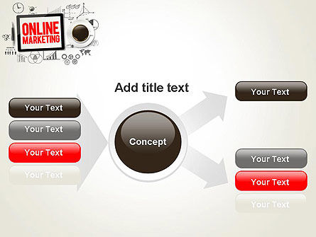 Online Marketing Strategy Concept PowerPoint Template Slide 14