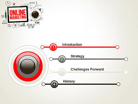 Online Marketing Strategy Concept PowerPoint Template Slide 3