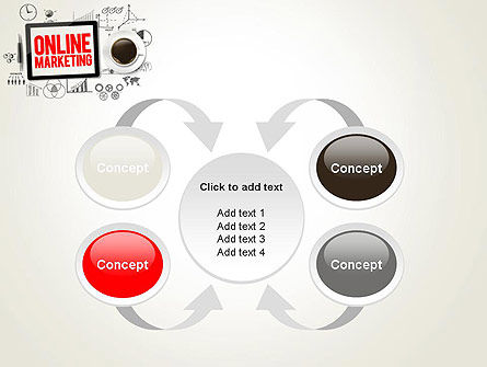 Online Marketing Strategy Concept PowerPoint Template Slide 6
