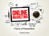 Careers/Industry: Online Marketing Strategy Concept PowerPoint Template #13929