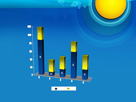 Golden and Blue Abstract PowerPoint Template Slide 17