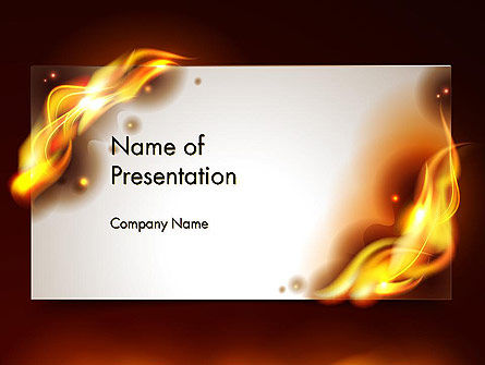 Abstract/Textures: Burning Paper PowerPoint Template #13934