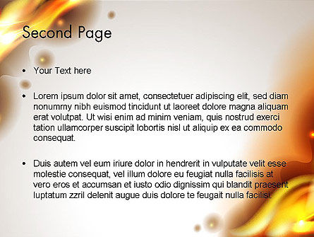 Burning Paper PowerPoint Template Slide 2