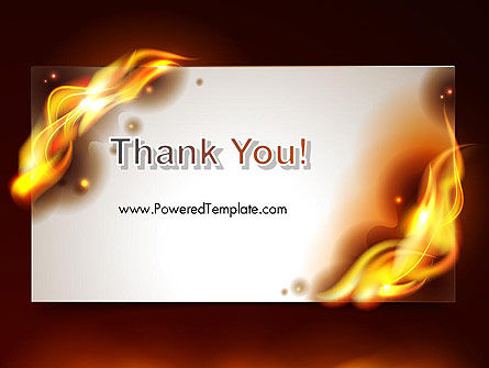 Burning Paper PowerPoint Template Slide 20