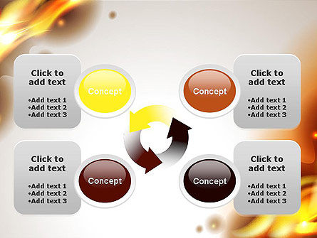 Burning Paper PowerPoint Template Slide 9