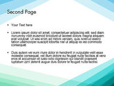Diagonal Lines Against White Background PowerPoint Template#2