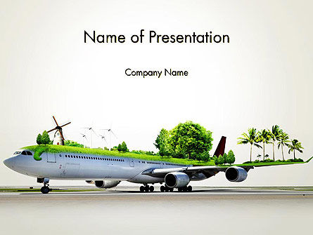 Travel by Airplane PowerPoint Template, 13936, Cars and Transportation — PoweredTemplate.com