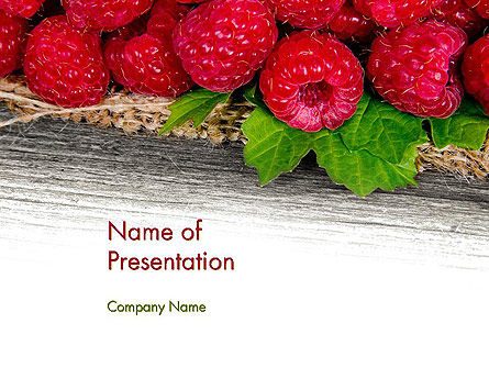 Red Raspberry PowerPoint Template, 13938, Agriculture — PoweredTemplate.com
