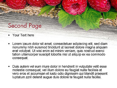 Red Raspberry PowerPoint Template, Slide 2, 13938, Agriculture — PoweredTemplate.com