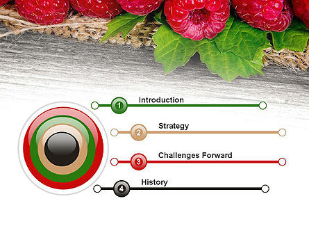 Red Raspberry PowerPoint Template, Slide 3, 13938, Agriculture — PoweredTemplate.com