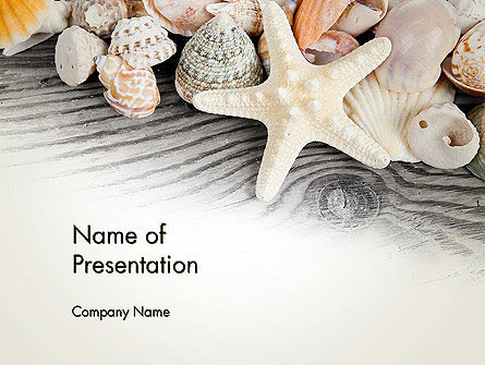 Shells and Starfish PowerPoint Template, 13939, Holiday/Special Occasion — PoweredTemplate.com