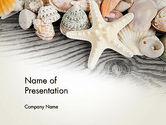 Holiday/Special Occasion: Shells and Starfish PowerPoint Template #13939