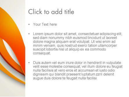 Orange Stream Waves PowerPoint Template, Slide 3, 13941, Abstract/Textures — PoweredTemplate.com
