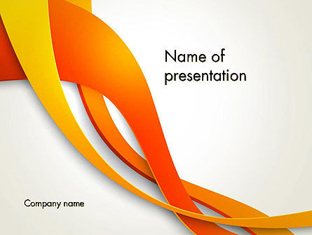 Abstract/Textures: Orange Stream Golven PowerPoint Template #13941