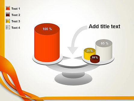 Orange Stream Waves PowerPoint Template Slide 10