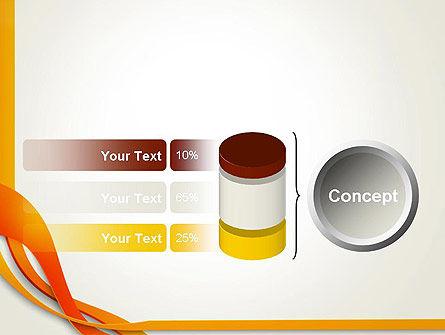 Orange Stream Waves PowerPoint Template Slide 11