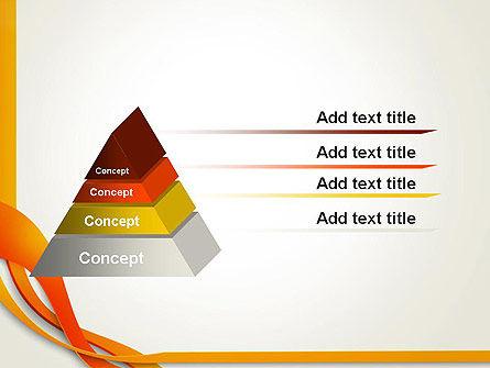 Orange Stream Waves PowerPoint Template Slide 12
