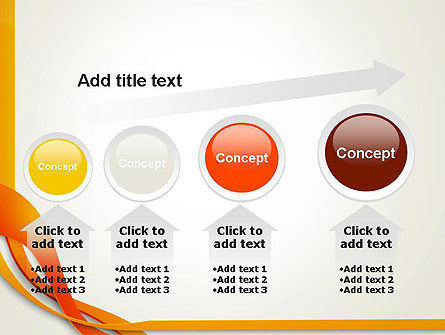 Orange Stream Waves PowerPoint Template Slide 13