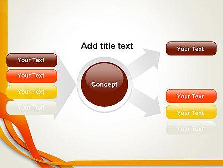 Orange Stream Waves PowerPoint Template Slide 14
