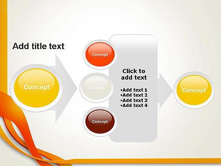 Orange Stream Waves PowerPoint Template Slide 17
