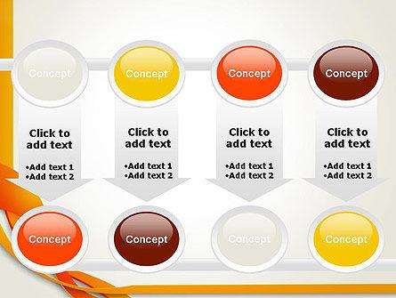 Orange Stream Waves PowerPoint Template Slide 18