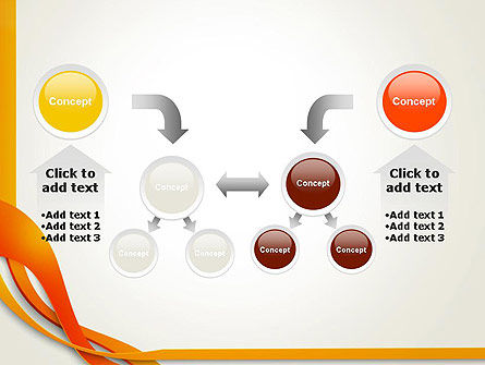 Orange Stream Waves PowerPoint Template Slide 19