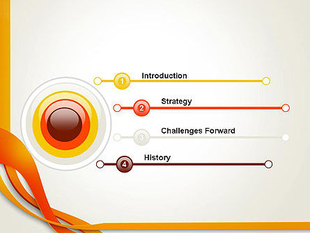 Orange Stream Waves PowerPoint Template, Slide 3, 13941, Abstract/Textures — PoweredTemplate.com