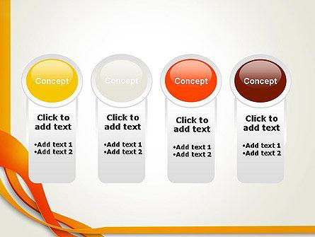 Orange Stream Waves PowerPoint Template Slide 5