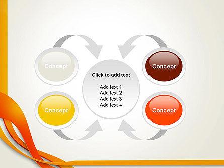 Orange Stream Waves PowerPoint Template Slide 6